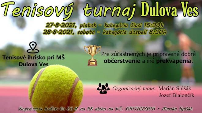 plagát Tenisový turnaj Dulova Ves